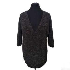 Express Gold Flecked Sweater